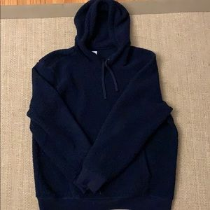 Men's Large Gap Navy Fleece Hooded Sweatshirt